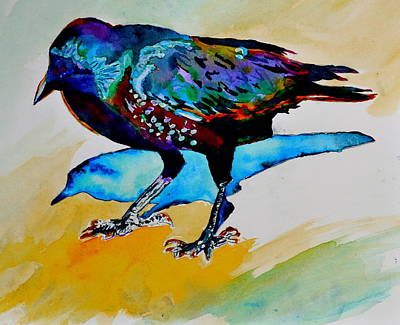 Shadowland Visitor Art Print by Beverley Harper Tinsley