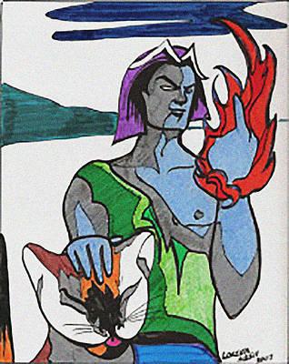 Comics Mixed Media - Shadowlord by Loretta Nash