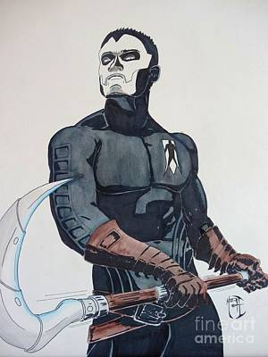 Justin Moore Painting - Shadowman II by Justin Moore