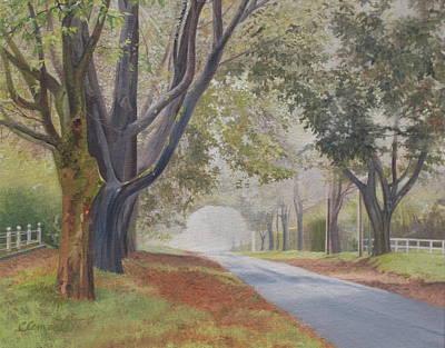 Amagansett Painting - Shadow And Fog Down Beautiful Atlantic Avenue by Barbara Barber