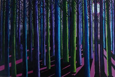Painting - Shadows And Moonlight by Susan M Woods