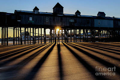 Surfing Maine Photograph - Shadows And Sunset by Joe Faragalli