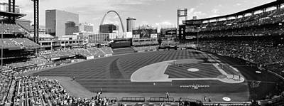 Shadows At Busch B-w Art Print