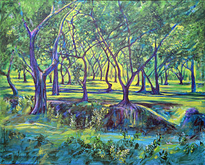 Lal Bagh Painting - Shadows At Noon - Indian Landscapes by Usha Shantharam