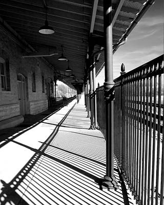 Shadows At The Station Art Print