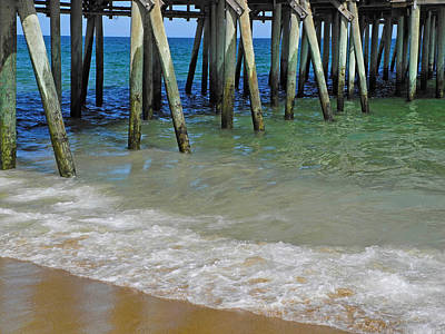 Photograph - Shadows Beneath The Pier by Lynda Lehmann