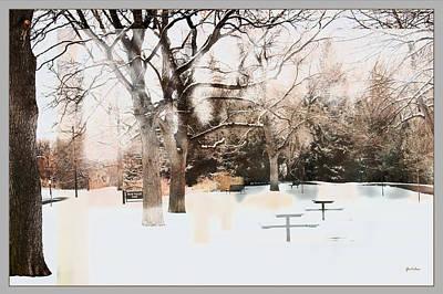 Winter Sepia Scene Digital Art - Shadows Blurred In Sepia by Gretchen Wrede