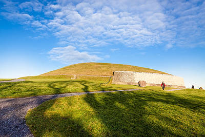 Photograph - Shadows Fall On Newgrange In Ireland by Mark E Tisdale