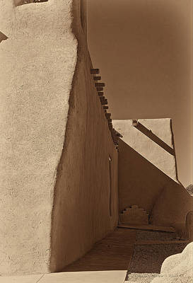 Photograph - Shadows In Ranchos - Platinum - Palladium by Charles Muhle