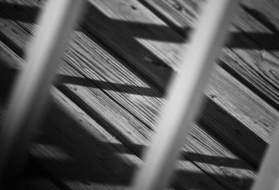 Contemplative Photograph - Shadows Of Carpentry by Christi Kraft