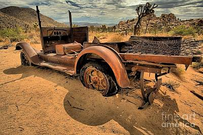 Mining Truck Photograph - Shadows Of The Past by Adam Jewell