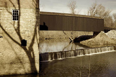 Photograph - Shadows Of The Past - Covered Bridge by Jane Eleanor Nicholas