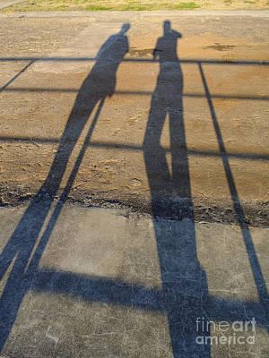 Shadows Of Two People Art Print by Jannis Werner