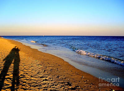Photograph - Shadows On Sand Beach by Nina Ficur Feenan