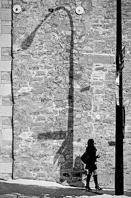 Old Montreal Photograph - Shadows On St-laurent by Valerie Rosen