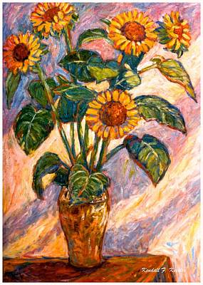 Painting - Shadows On Sunflowers by Kendall Kessler