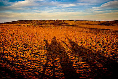Photograph - Shadows On The Sahara by Mark E Tisdale