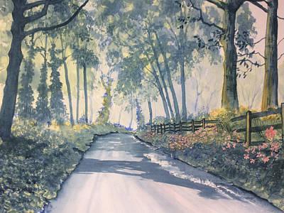 Painting - Shadows On The Setterington Road by Glenn Marshall