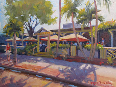 Shadows On Tommy Bahamas Print by Dianne Panarelli Miller