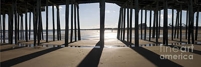 Shadows Under The Pier Art Print by David Bishop