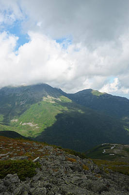Photograph - Shadowy Mountainside Mount Washington New Hampshire by Toby McGuire