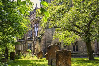 Shady Green Churchyard At Warwick Art Print
