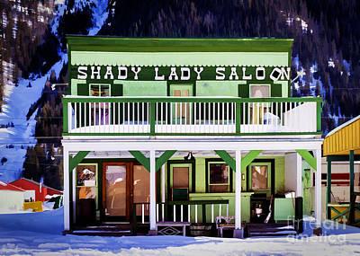 Shady Street Painting - Shady Lady Saloon by Janice Rae Pariza