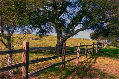 Shady Oak Art Print by John K Woodruff