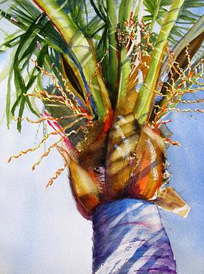 Painting - Shady Palm Tree by Carlin Blahnik CarlinArtWatercolor