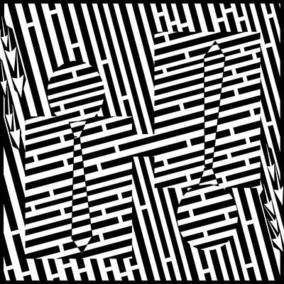 Yfrimer Drawing - Shake Hand Maze by Yonatan Frimer Maze Artist