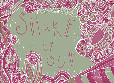 Folk Art Digital Art - Shake It Out by Susan Claire