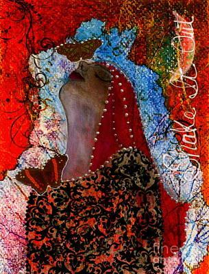 Pearls Mixed Media - Shake It Out by Nancy TeWinkel Lauren