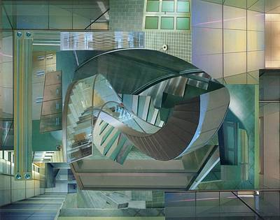 Staircase Mixed Media - Shake It Up by Denise Mazzocco