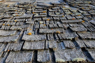 Photograph - Shake Shingles by Trent Mallett