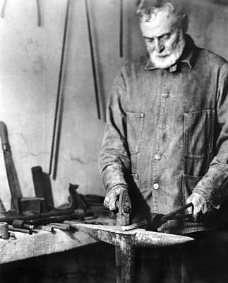 Hancock Village Photograph - Shaker Blacksmith, 1935 by Granger