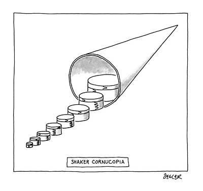 Cornucopia Drawing - Shaker Cornucopia by Jack Ziegler