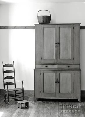 Hancock Village Photograph - Shaker Furniture In The Hancock Shaker Village At Pittsfield Massachusetts New England by David Lyons