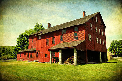 Photograph - Shaker Village Barn by Trina  Ansel