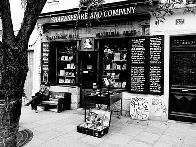Shakespeare And Company Boookstore In Paris France Art Print by Richard Rosenshein
