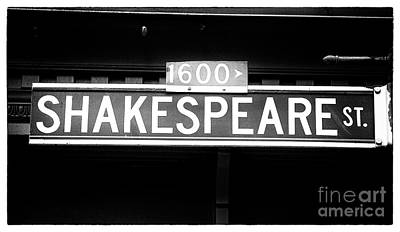 Photograph - Shakespeare Street by John Rizzuto
