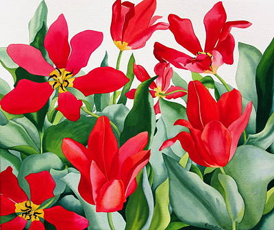 Shakespeare Tulips Art Print by Christopher Ryland