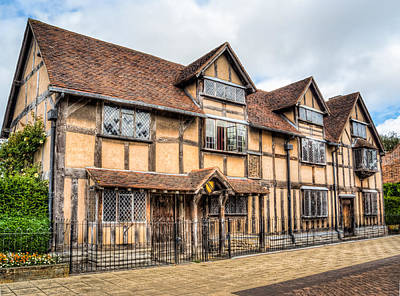 Stratford Photograph - Shakespeare's Birthplace by Trevor Wintle