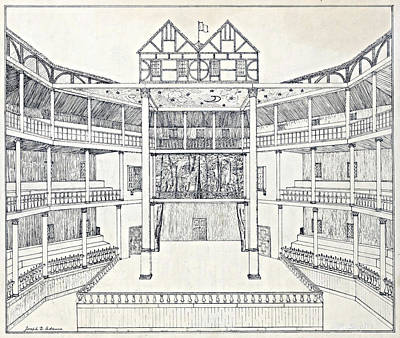 Shakespeares Globe Theatre Art Print