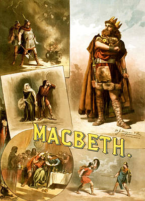 1880s Photograph - Shakespeare's Macbeth 1884 by Mountain Dreams