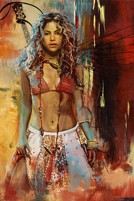 Shakira Painting - Shakira  by Corporate Art Task Force