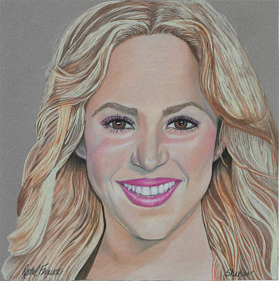 Shakira Drawing - Shakira by Rachel Ferguson