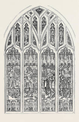 Stratford Drawing - Shakspeare Memorial Window For Stratford-on-avon Church 1873 by English School
