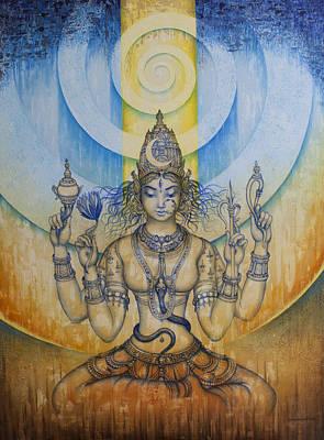 Spirals Painting - Shakti - Tripura Sundari by Vrindavan Das