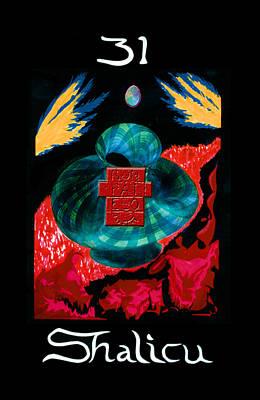 Painting - Shalicu  - Aeon / The Last Judgement by Linda Falorio