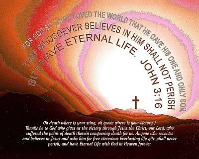Faith Hope And Love Mixed Media - Jesus, Cross 117 by Daniel Madrid